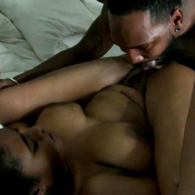 Busty Ebony Struggles With Bbc