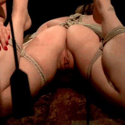 Tie her up, whip her pussy and hear her whimper